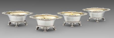 Paul storr salt cellar royal antique silver London Georgian regency